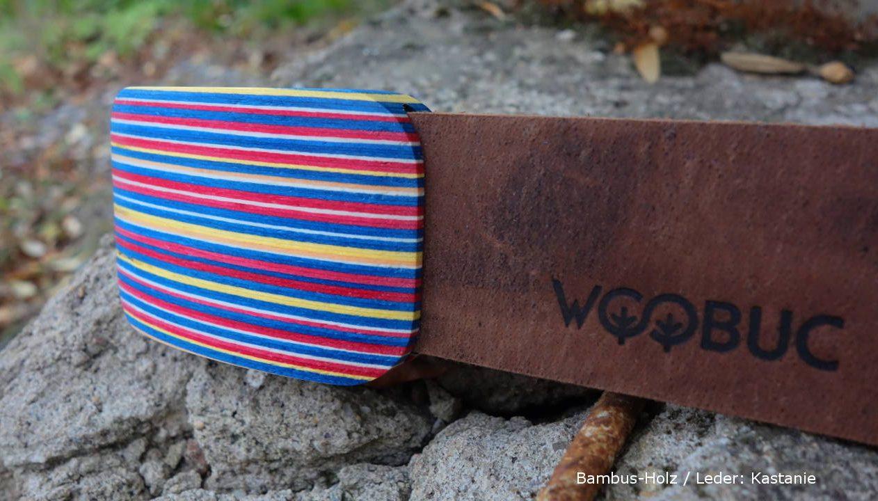 Bambus-Holz-Lederguertel Herren v3