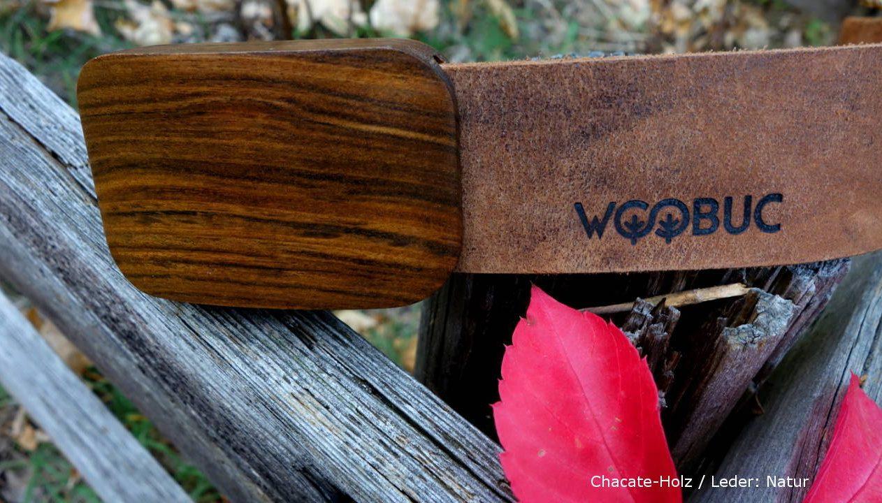 Chacate-Holz-Lederguertel Herrenv1-Sandalwood