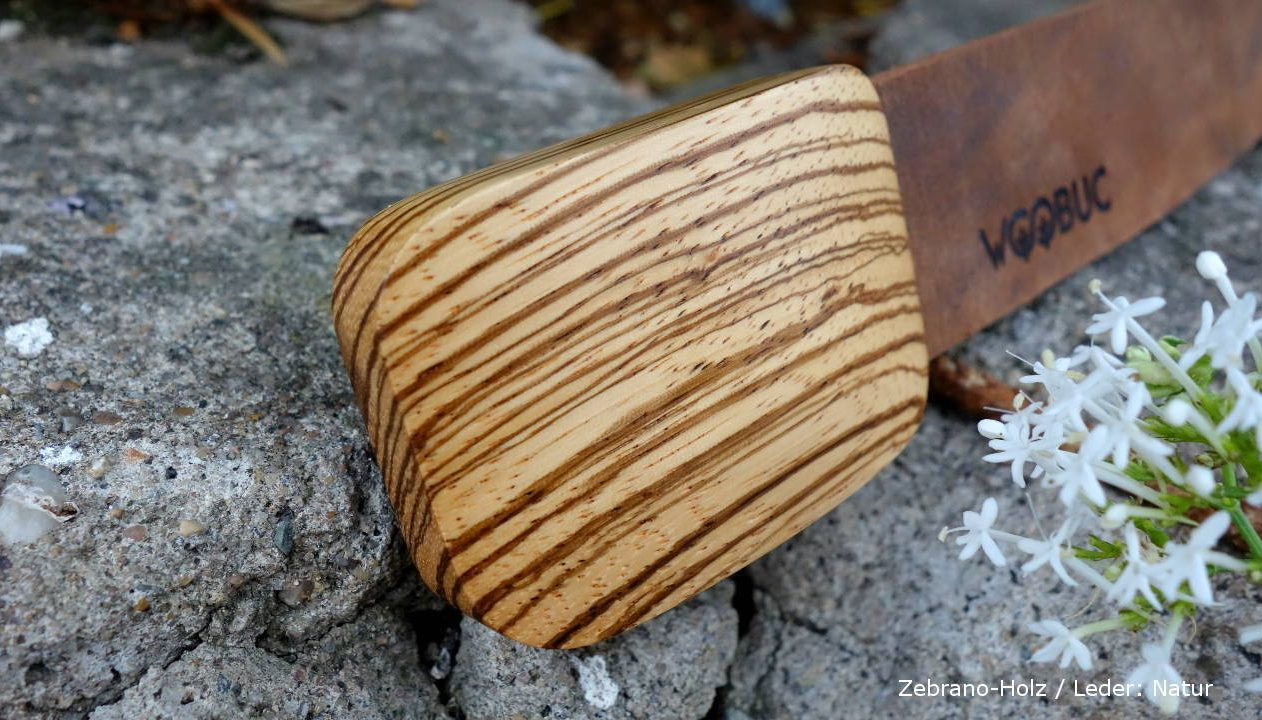 Zebrano Holz Lederguertel Herren v1
